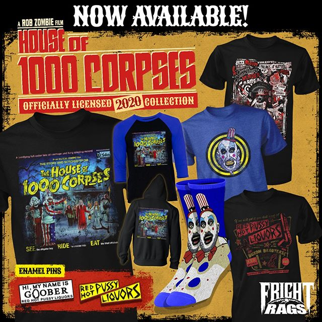 House of 1000 Corpses merchandise Frightrags