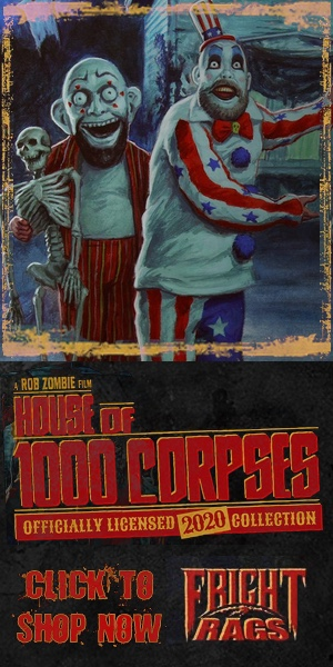 House of 1000 Corpses exclusive merchandise Frightrags January 2020