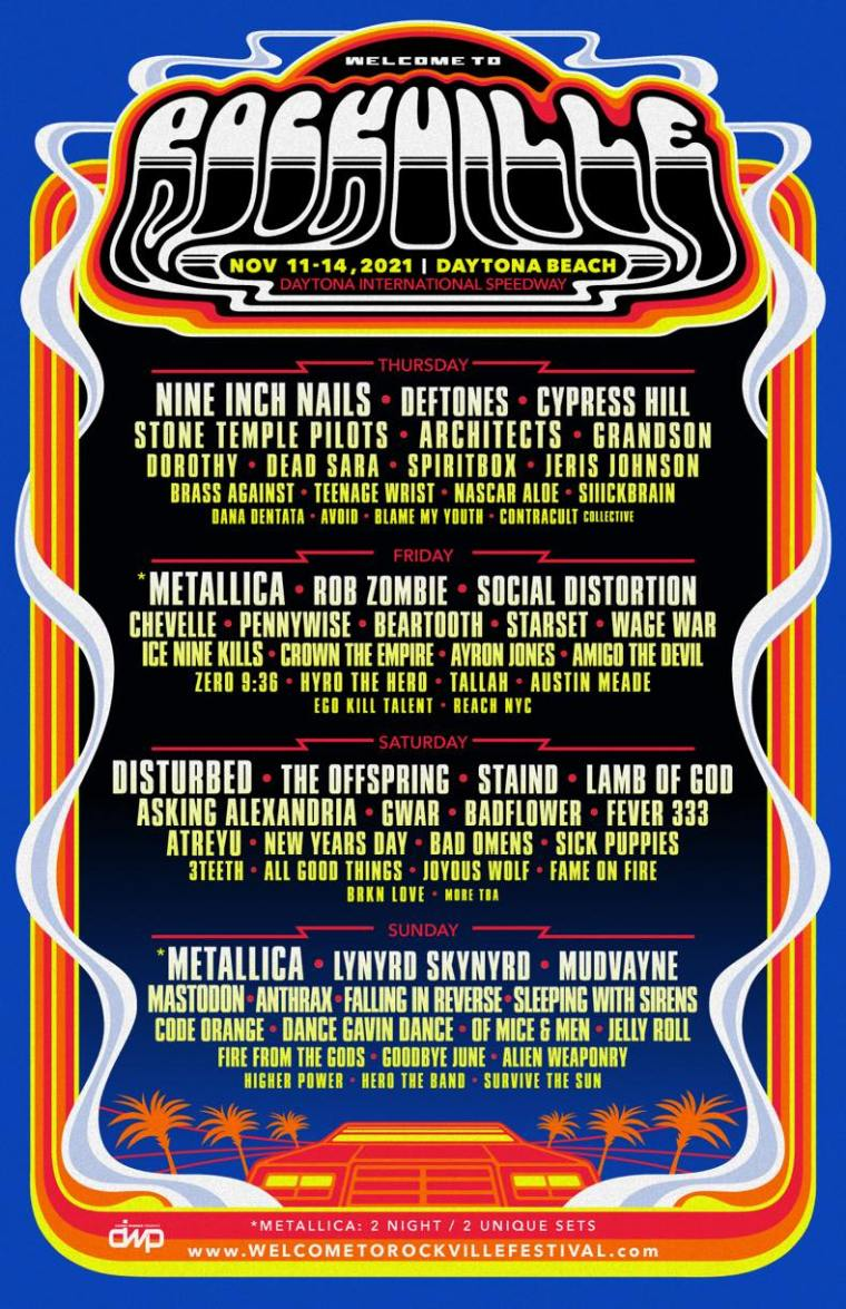 Welcome To Rockville Festival line-up poster 2021