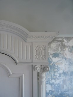 Room 3 armoire and wall detail