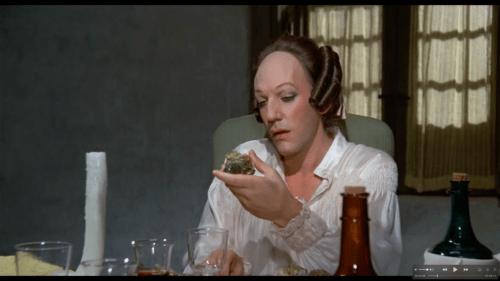 Donald Sutherland con parrucca Rocchetti nel Casanova di Fellini