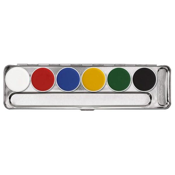 Palette 6 colori per il trucco Aquacolor di Kryolan