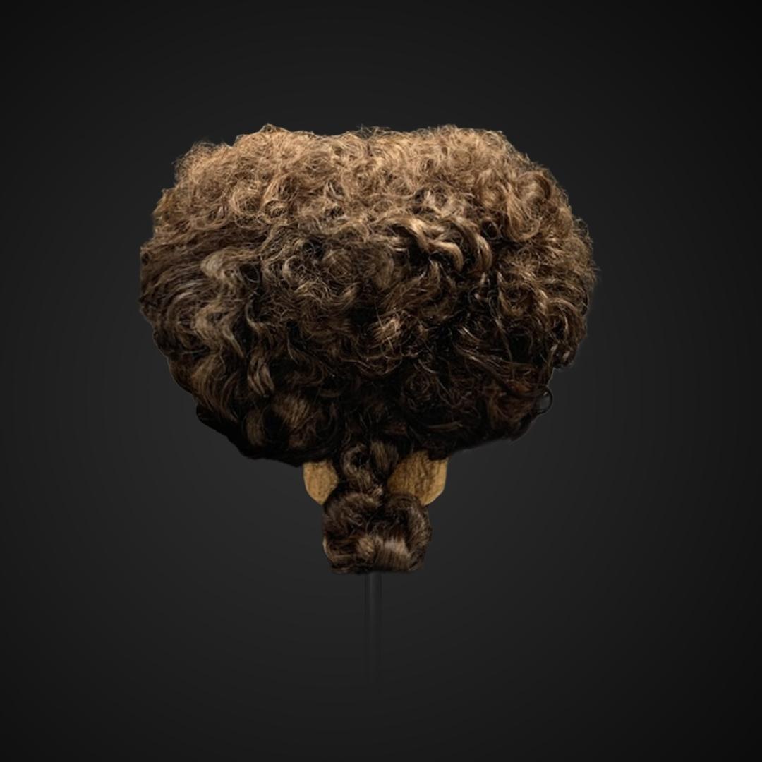Parrucca castana da uomo