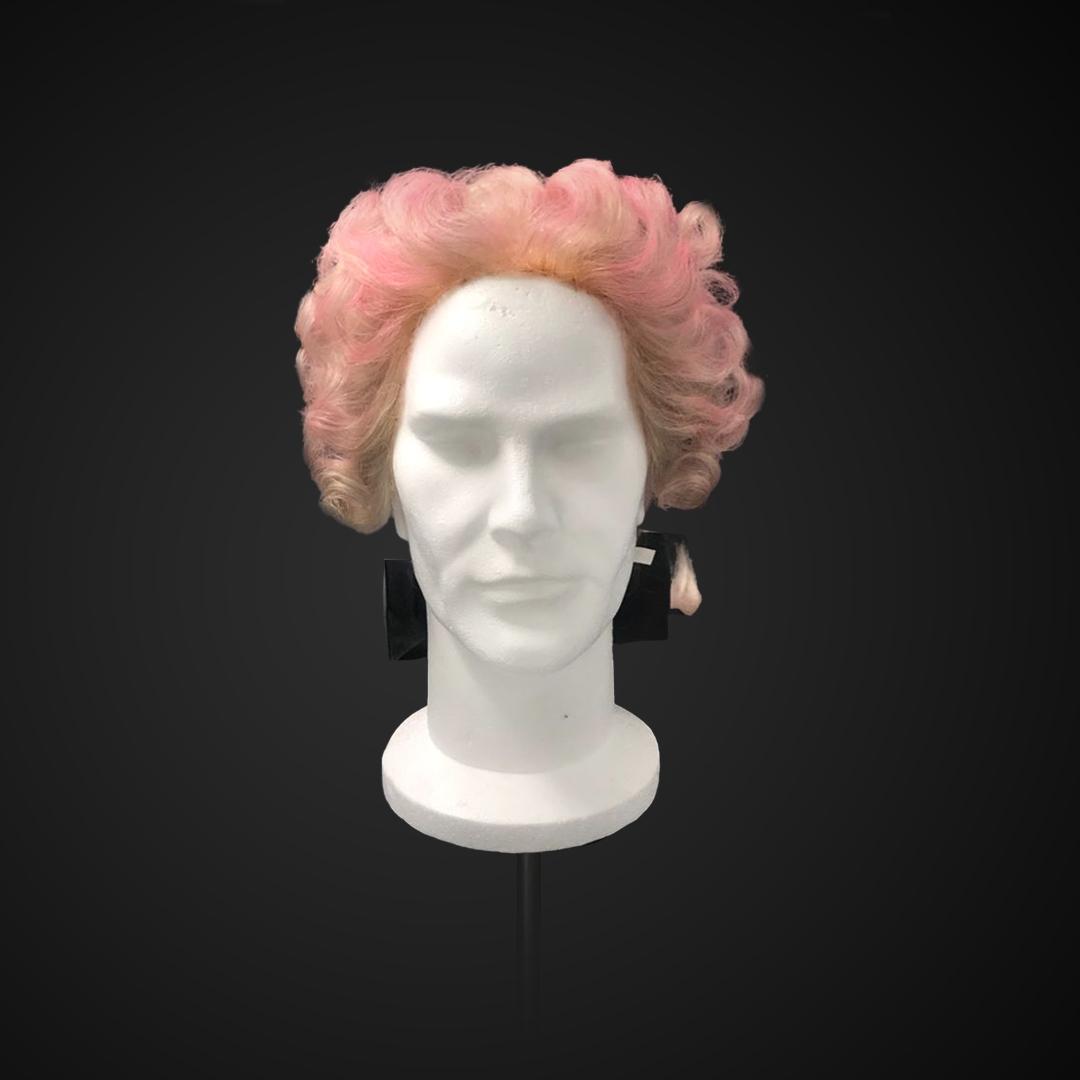 Parrucca da uomo rosa