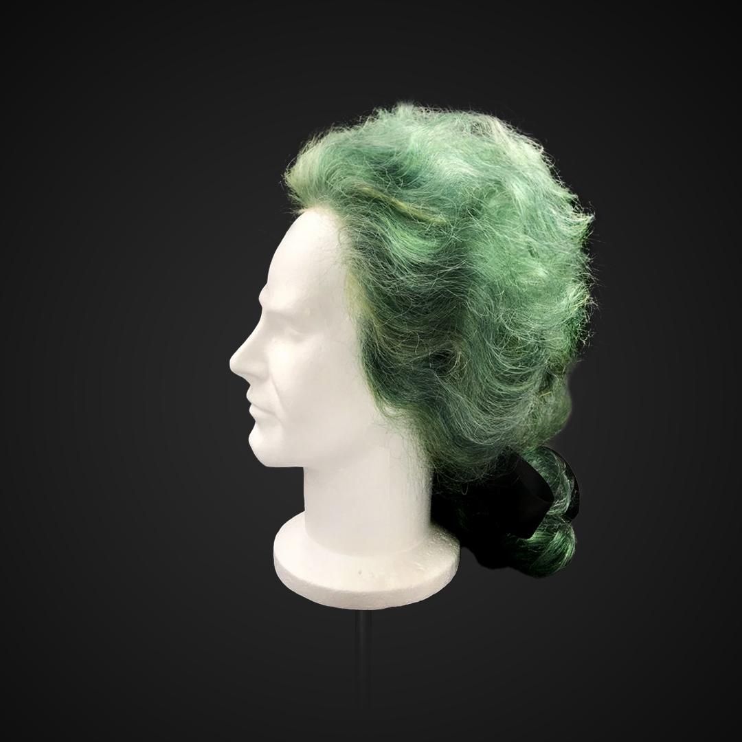 Parrucca con capelli verdi