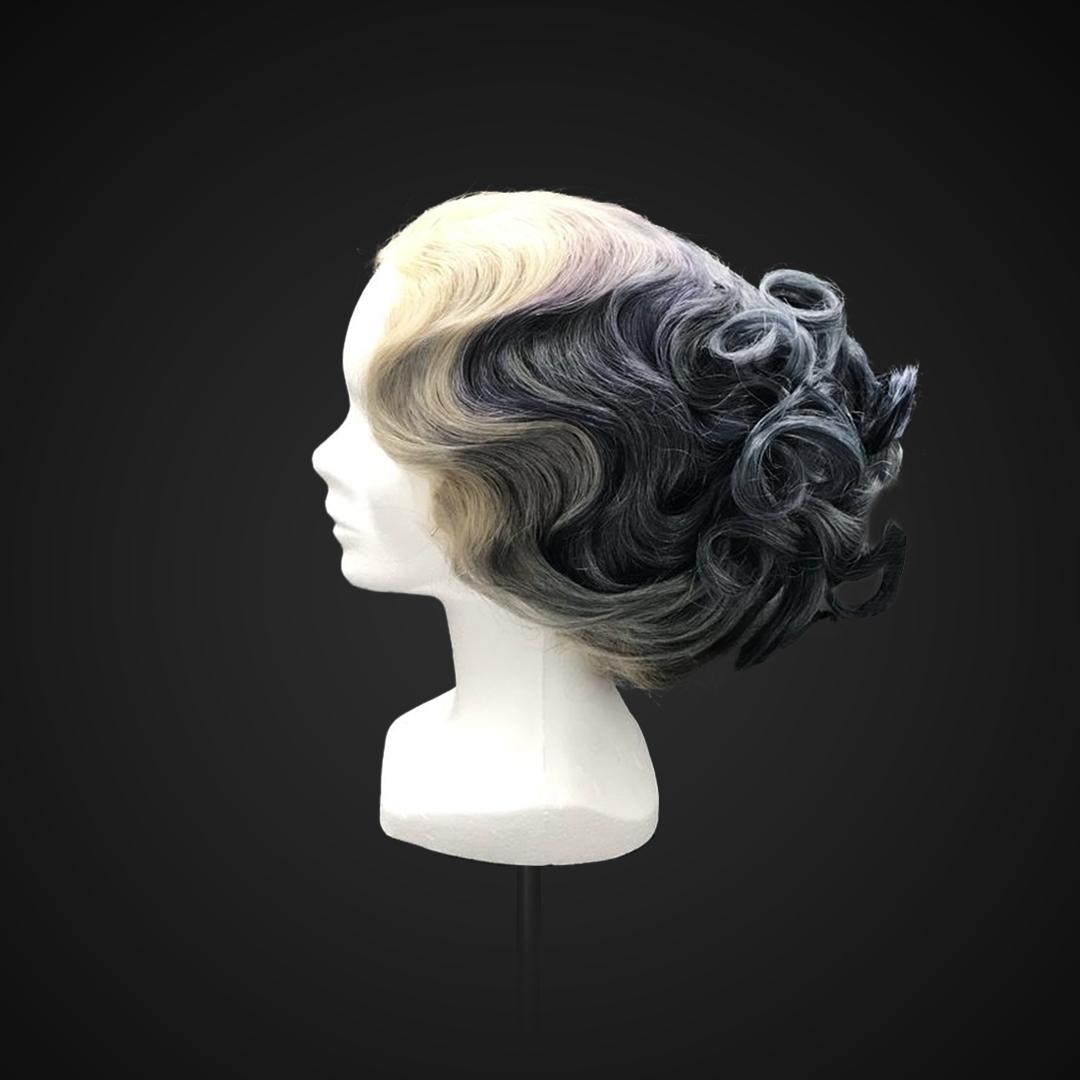 Parrucca multicolor stile Gibson Girl