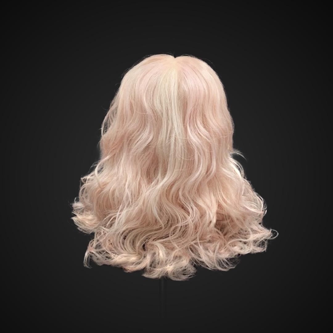 Parrucca rosa chiaro