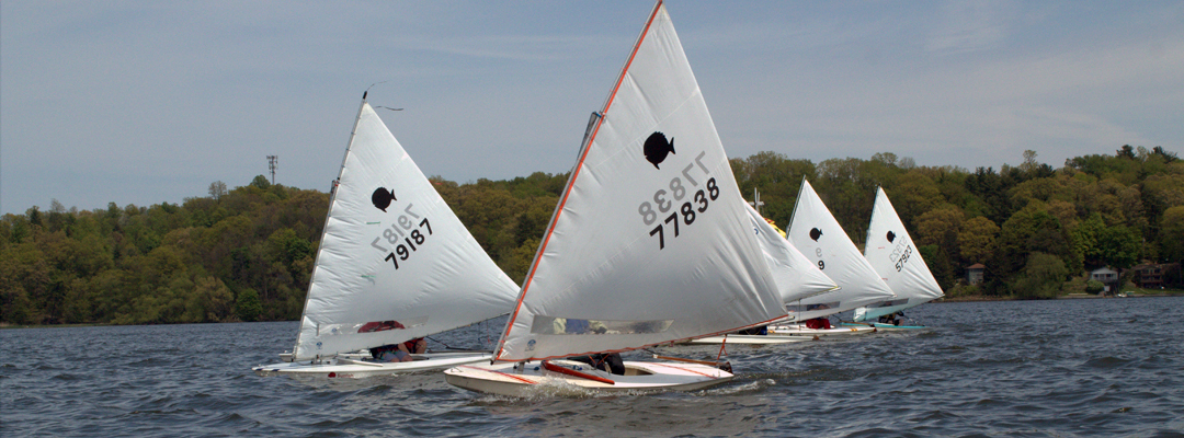 Sunfish Racing on Irondequoit Bay