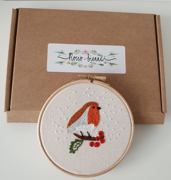 Christmas Robi embroidery