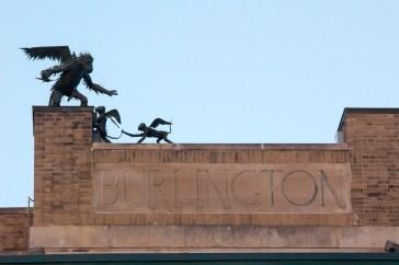 Burlington has the creepiest mascot.