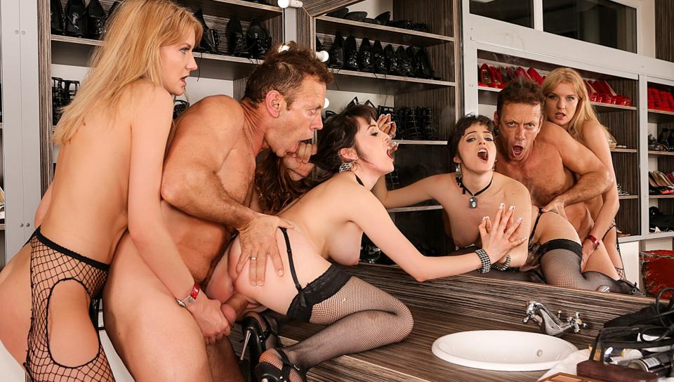 Rocco's Perfect Slaves #11, Scene #03 – Natty Mellow, Bree Haze, Rocco Siffredi, Mugur