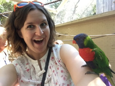 Me feeding a lorikeet!