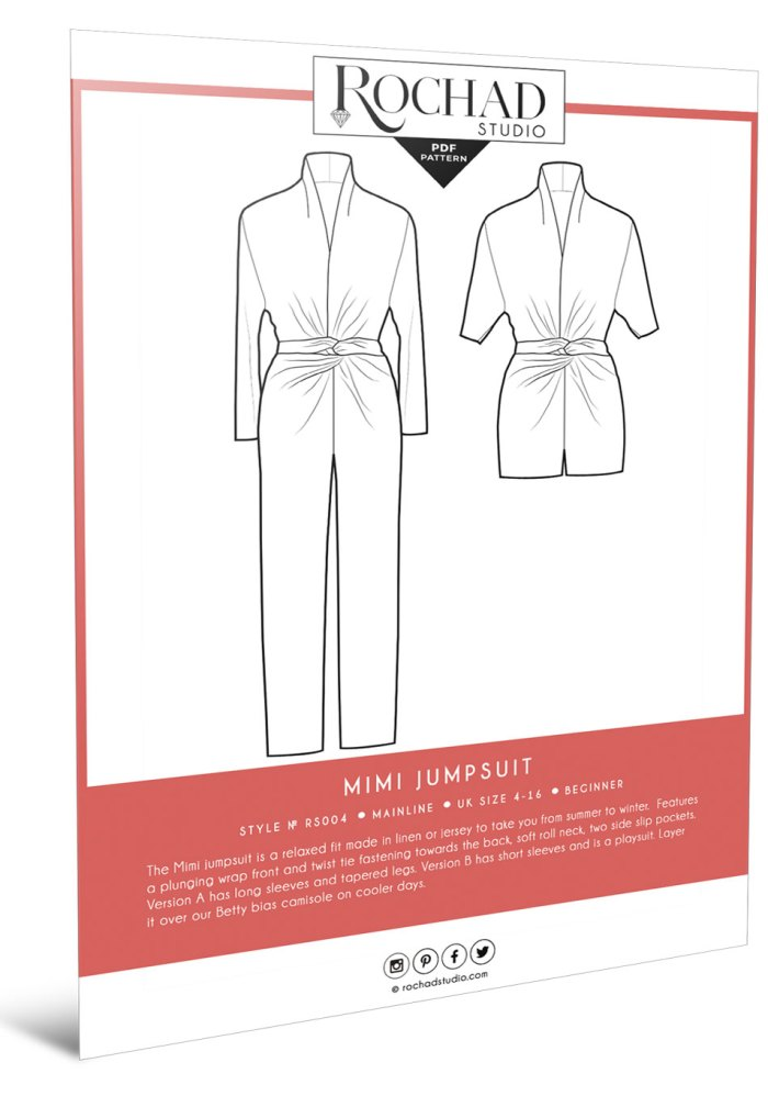 Rochad Studio - Mimi jumpsuit and playsuit sewing pattern