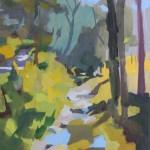 Roche Gardies. %22Ardèche le ruisseau%22 présélection concours international de la cité de l'art tissé d'Aubusson 2011