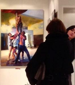 Roche gardies galerie Zonzon Brest . vernissage 22 janvier 2016 expo theatres intimes et maritimes