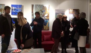 Roche gardies galerie Zonzon Brest . vernissage 22 janvier 2016 expo theatres intimes et maritimes 2