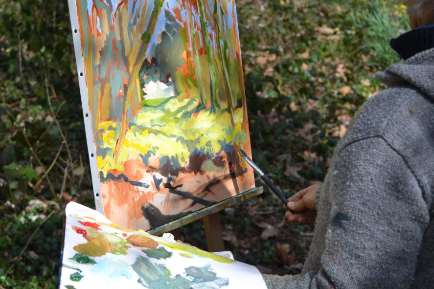 ©RocheGardies peintre stage. Améliorez votre style de peinture en 3 jours 12
