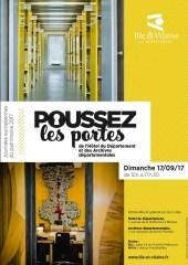 """""""Poussez les portes"""" des Archives départementales, Journées européennes du Patrimoine, 17 septembre 2017"""