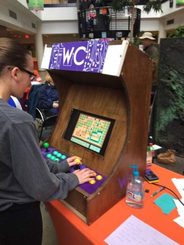 Women in Computing Arcade Cabinet and Magic Mirror