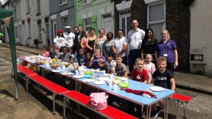 Mayfair Street Party with local residents Cllr Hall and Community Wardens