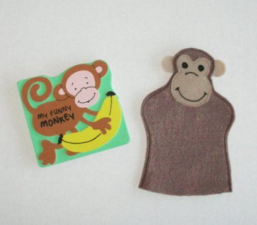 MFCrafts Monkey Puppet & Book