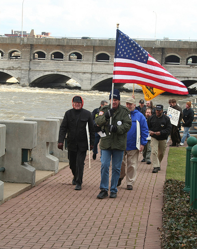 Tea Party participents  dumped tea in Genesee River in Rochester,Ny