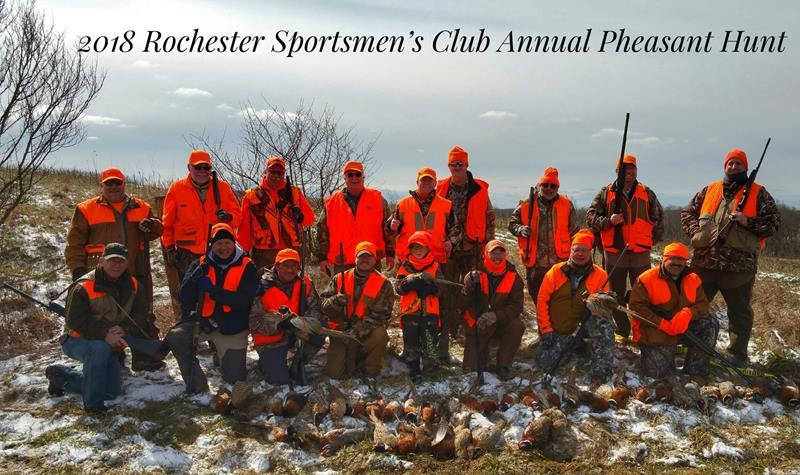 2018 Rochester Sportsmen's Club annual Pheasant Hunt