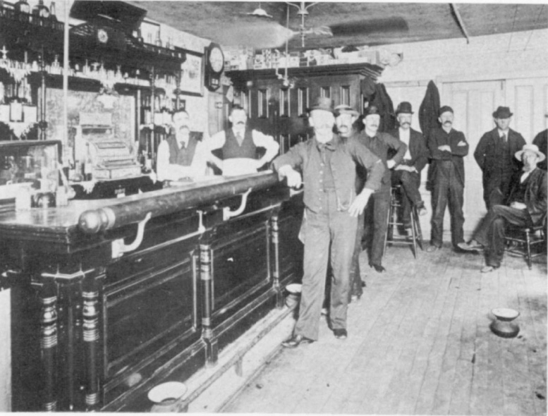 The Doud Saloon on Front Street in the late 1800s. [PHOTO: Local History Division, Rochester Public Library.]