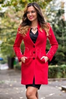 paltoane dama elegante ieftine rosii