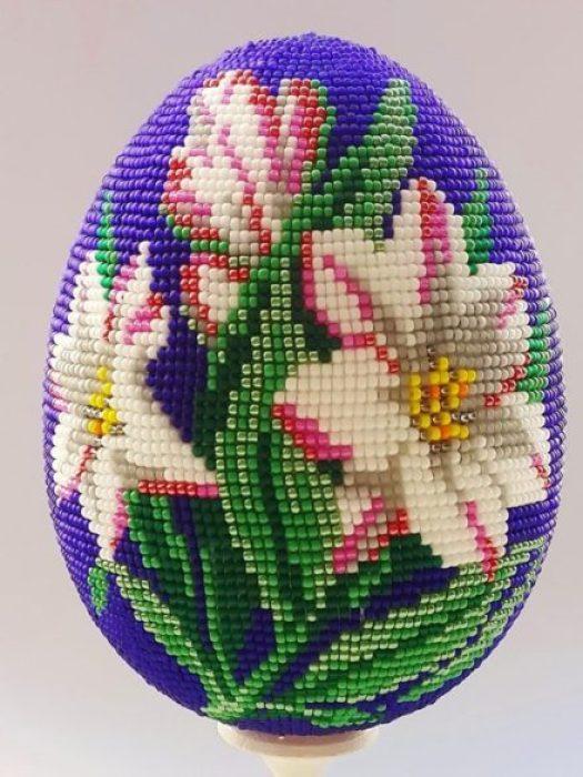 Huevos Pysanky, huevos de Pascua de Ucrania Biser