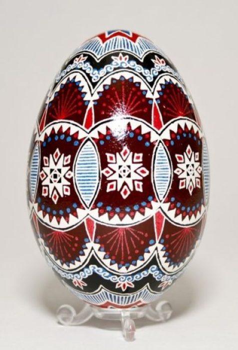 Huevos Pysanky, huevos de Pascua de Ucrania Travenkly
