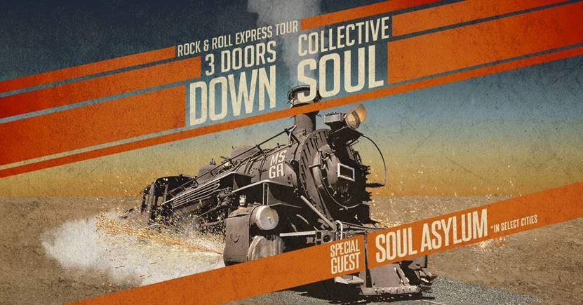 3 Doors Down & Collective Soul announce Rock & Roll Express Tour