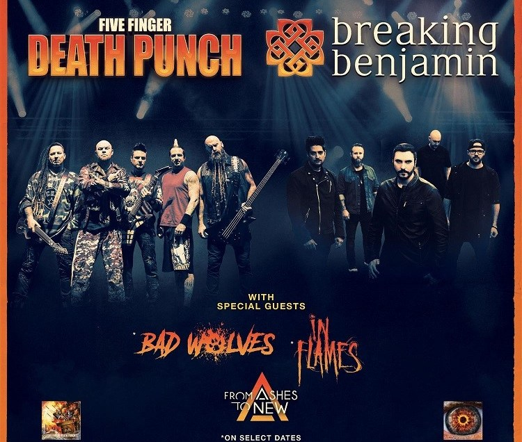 Five Finger Death Punch & Breaking Benjamin Extend US Fall Arena Tour