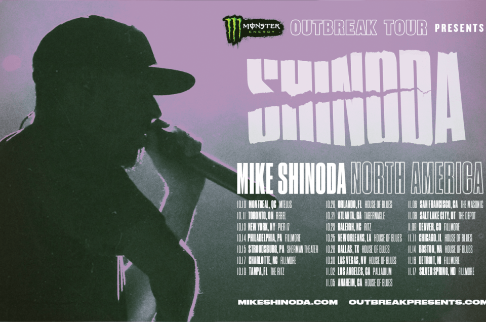 Outbreak Tour 2018 featuring Mike Shinoda.