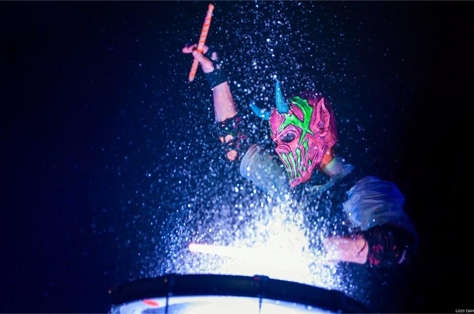 Mushroomhead brings blacklights and water drums to Ziggy's in Winston-Salem, NC.