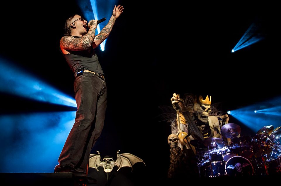 M. Shadows of Avenged Sevenfold headlining Carolina Rebellion 2014.