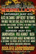 Lineup announcement for Carolina Rebellion 2013.