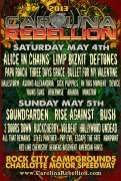 Lineup announcement for Carolina Rebellion 2013.