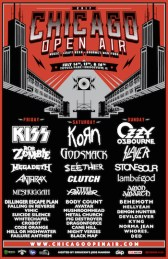 Lineup for Chicago Open Air 2017 featuring Kiss, Korn and Ozzy Osbourne.