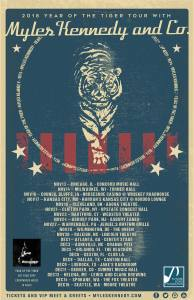 Myles Kennedy out on 2018 Year of the Tiger tour in support of new solo album.