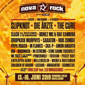 The initial lineup for Austria's Nova Rock 2019 music festival has been announced.