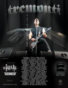 Tremonti on European A Dying Machine tour 2018.