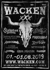 The first bands for Wacken Open Air 2019 have been unveiled.