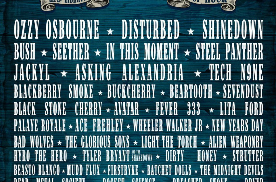 Lineup announced for Rocklahoma 2019