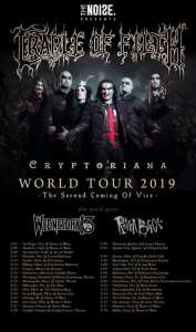 Cradle of Filth will return to North America on the second leg of the Cryptoriana Tour.