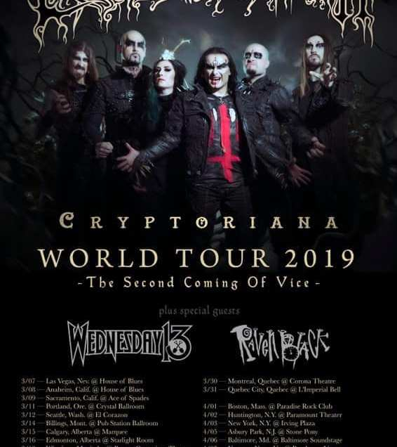 Cradle of Filth to return to North America on Cryptoriana Tour