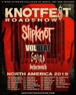 Slipknot has announced the Knotfest Roadshow headline tour with Volbeat, Gojira and Behemoth.
