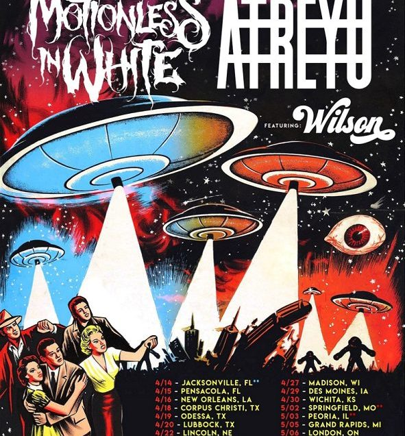 Atreyu + Motionless In White announce 2019 Spring Invasion Tour