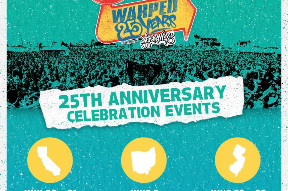 Vans Warped Tour has announced the cities and venues for their 25th anniversary celebration.