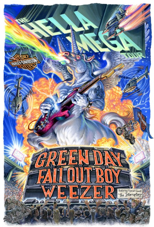 The Hella Mega Tour has been announced featuring Green Day, Weezer and Fall Out Boy.